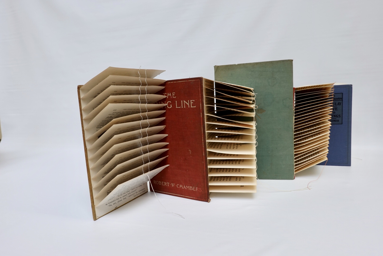Book art Cover Story interior pages from left view
